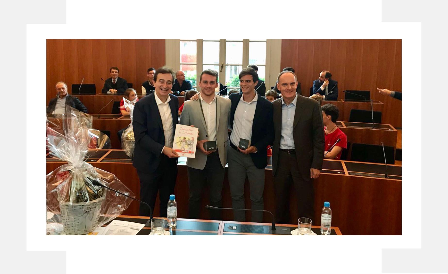 Città di Lugano - Premiazione Michele Niggeler ed Elia Dagani